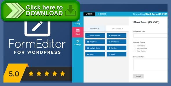 [ThemeForest]Free nulled download FormEditor - Pro WordPress Form Builder from http://zippyfile.download/f.php?id=44086 Tags: ecommerce, ajax contact form, ajax forms, contact form, contact form plugin, custom contact form, custom form, form, form builder, form creator, form design, form manager, form themes, forms builder, wordpress form builder, wordpress forms