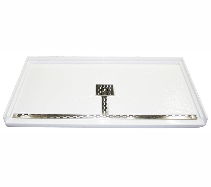 The patented MTSB-6036BF barrier-free base has a textured bottom, 3-sided integral tile flange and a zero-barrier front threshold designed for ease of transfer between bathroom space to shower.    Drain and Channel Cover is standard in Stainless Steel or White Powder Coat.    See below for additional Barrier-Free Shower Base sizes