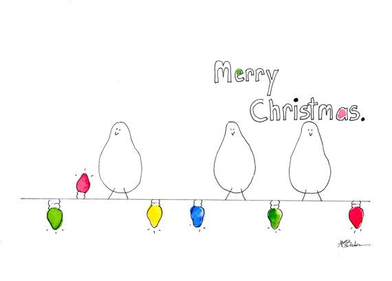 Sup Birds Merry Christmas Christmas Card by A6studios on Etsy, $4.50