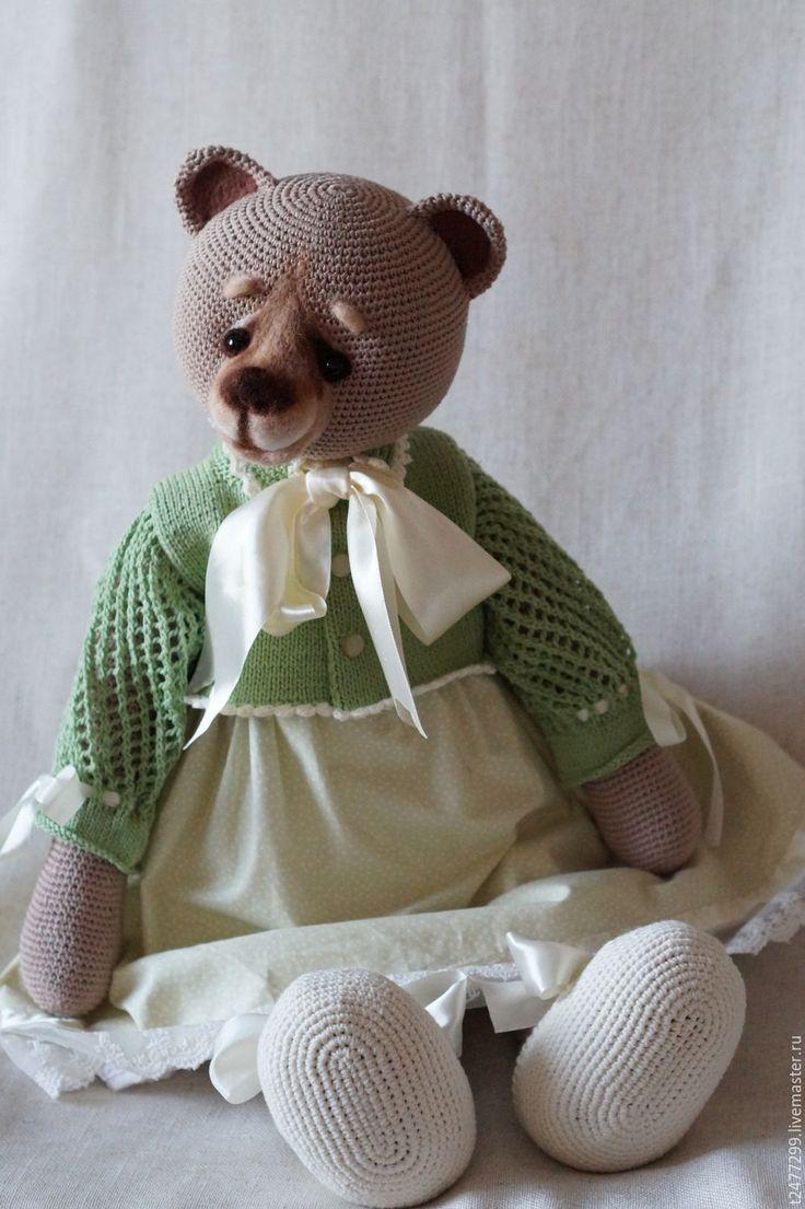 Купить Симона фон Медведеff,вязанная мишка в одежде - мишка тедди, мишка ручной работы