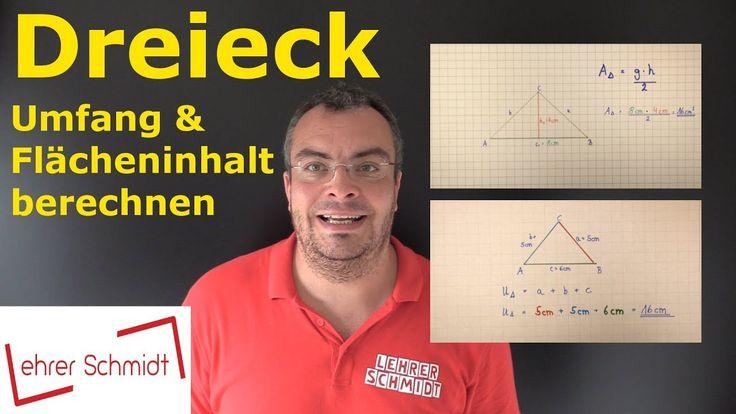 Dreieck, Flächeninhalt, Umfang, einfach erklärt, Mathematik, Lehrerschmidt