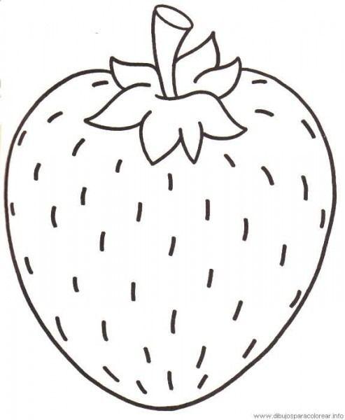 Frutilla Para Colorear Frutas Para Colorear Verduras Dibujo Paginas Para Colorear