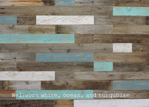 An assortment of 10-12 6 pieces of natural barnwood paneling. If you want to see any of the painted colors, just list the accent colors you wish to see in the order notes and we will include them.  THIS IS A SAMPLE PACK! LIMIT 2 Per CUSTOMER. See full listing at https://www.etsy.com/listing/203906264/reclaimed-wood-wall-paneling-diy-asst-3?