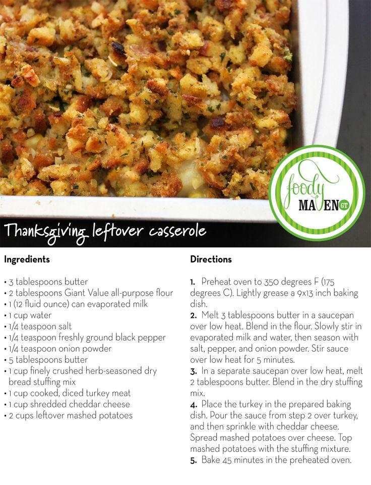 Thanksgiving Leftover Casserole
