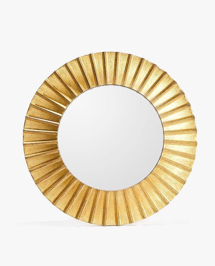Zara Home Round Golden Raised Design Mirror Zara Home Round Gold Mirror Mirror