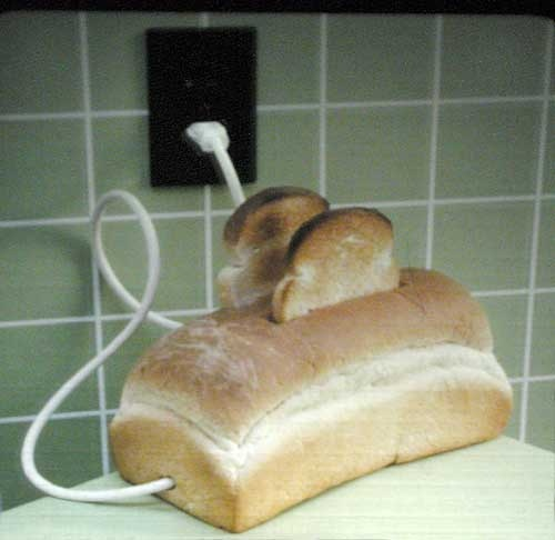 Bread shape toaster, so funny!