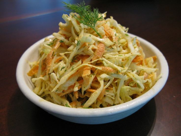 Paleo/SF coleslaw. Very tasty - served it with some chicken sausages. Don't let the dill frighten you - it makes for such a lovely flavor. Methinks I like this better than the colonel's.