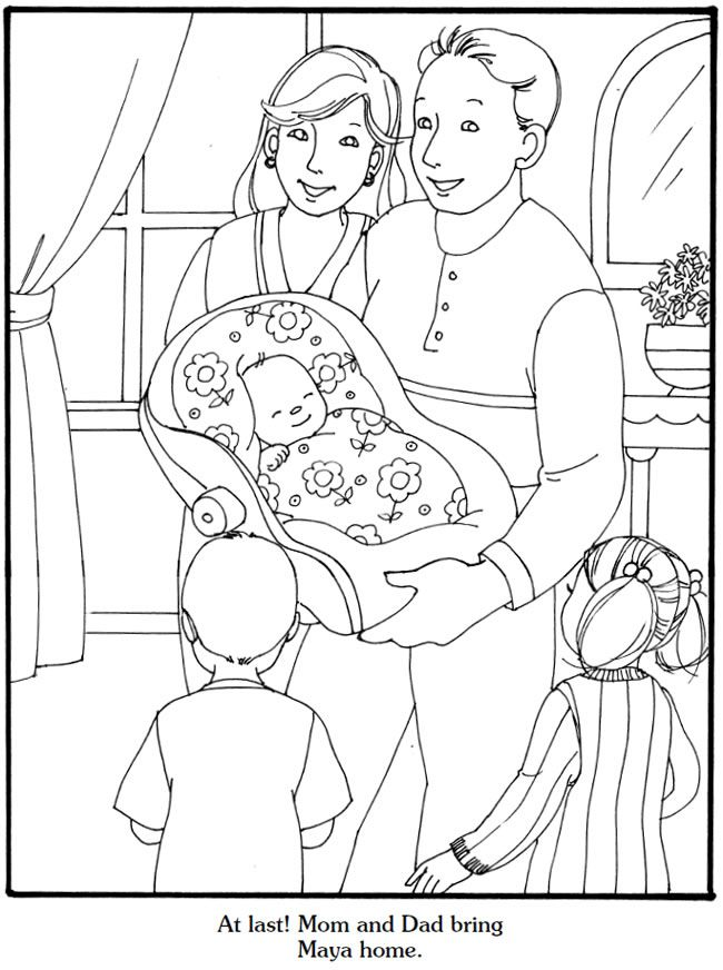 Our New Baby Coloring Book Wele to Dover Publications