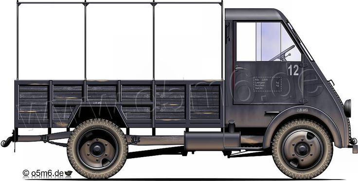 "Engines of the Wehrmacht - ""Peugeot DMA"", 2-ton, 4x2, Cargo Truck"