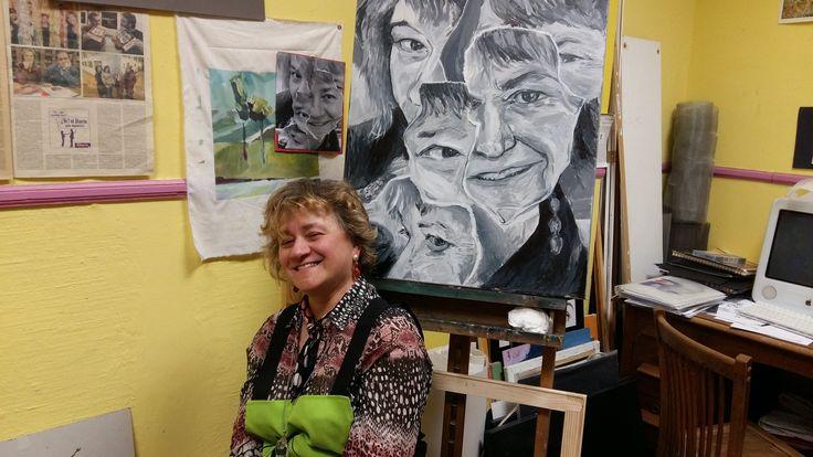 Retrato blanquinegro en la Escuela de Artes y Oficios