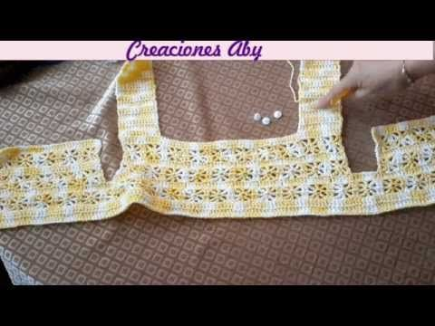 Canesu Tejido a Crochet - YouTube