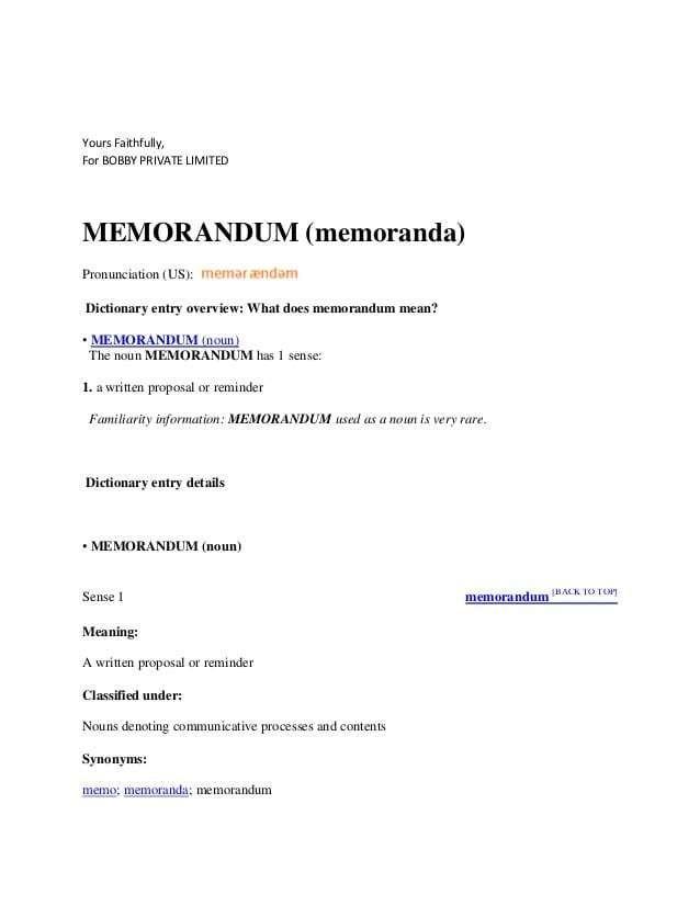 6 Memorandum Templates Memorandum