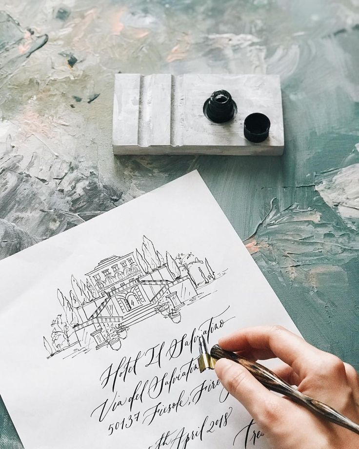 Rule 101 : Always work with black ink on smooth paper for scanning purposes. Upcoming invitation project for #destinationwedding in Tuscany at @ilsalviatino . . #florence #firenze #italianwedding #calligraphy #weddinginvitation #weddingstationery #sketches #illustration #vhcalligraphy #truffypi #calligrapher #カリグラフィー #カリグラフィースタイリング #ウェディングアイテム #ウェディング #モダンカリグラフィー #fineartwedding