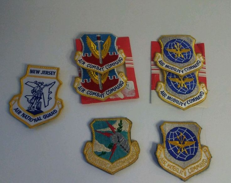 USAF AIR COMBAT COMMAND PATCH MOBILITY COMMAND SET NATIONAL GUARD US AIR FORCE