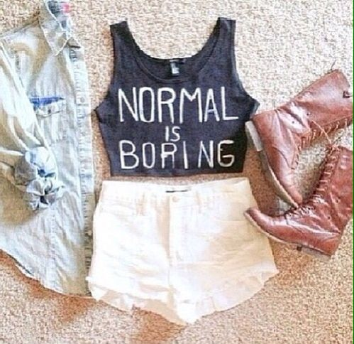 Change it to: Normal is fine. Leave all us normal people out of it (out of your identity crisis)...lol