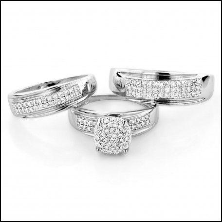 Discount Wedding Ring Trio Sets