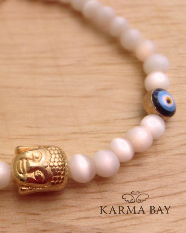 White #Buddha #Bracelet!