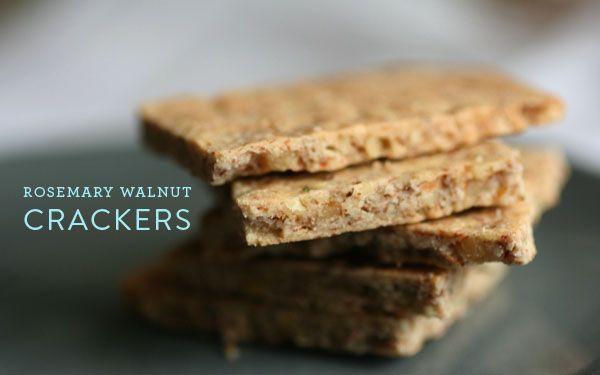 rosemary walnut crackers | recipies | Pinterest