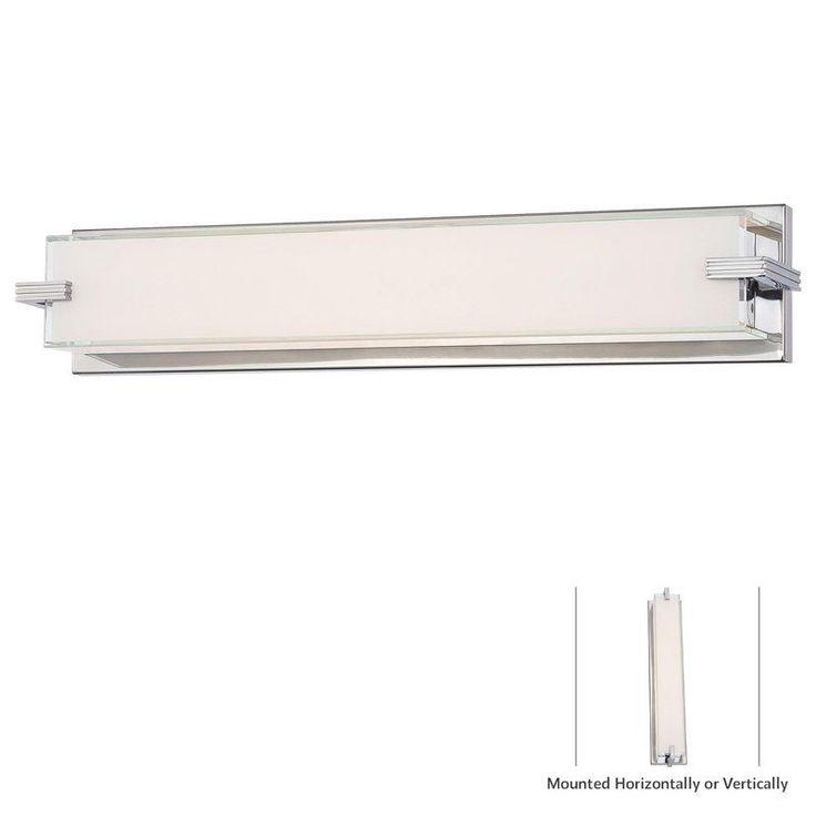 Photo Of Kovacs Light Width ADA Compliant LED Bathroom Bath Bar from th Chrome Indoor Lighting Bathroom Fixtures Bath Bar