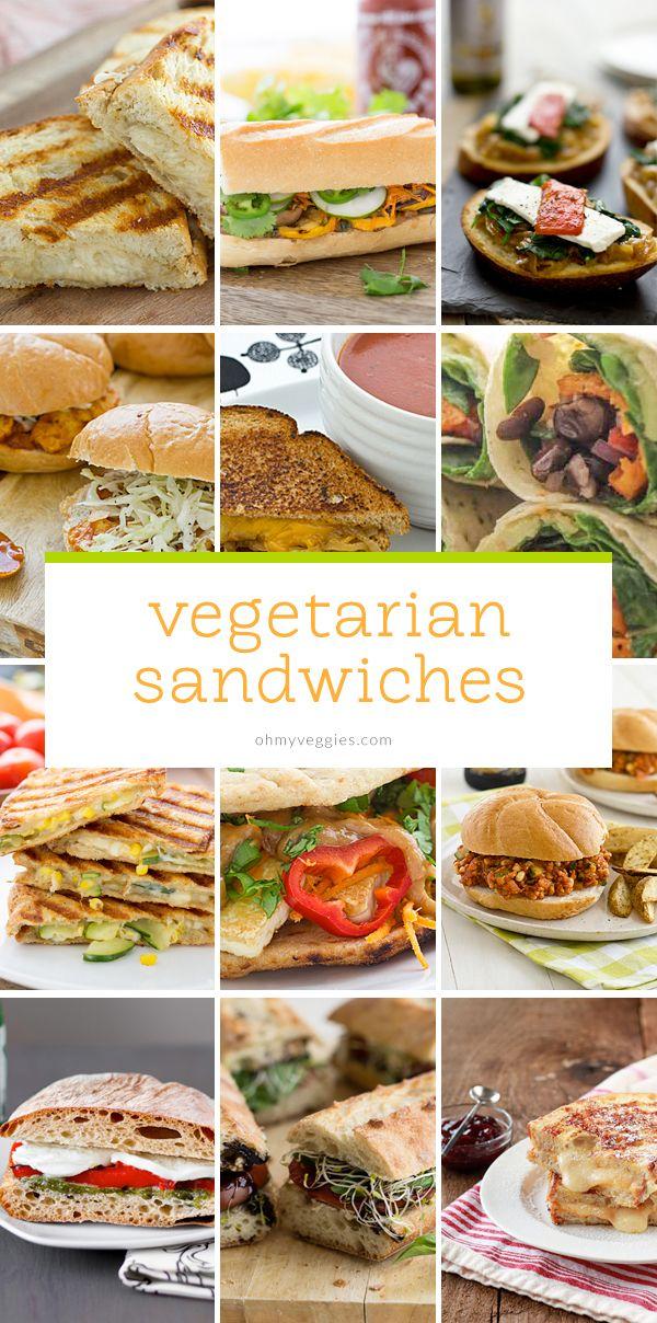 26 Vegetarian Sandwich Recipes from Oh My Veggies