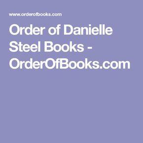 Order of Danielle Steel Books - OrderOfBooks.com