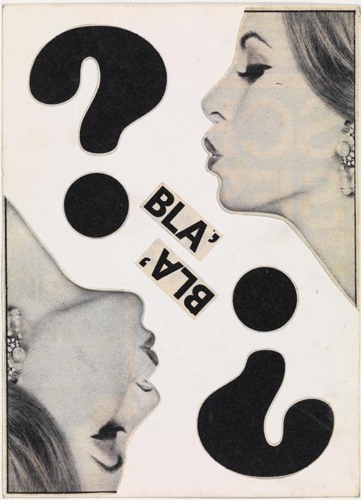 Michele Perfetti - Blà blà, 1968.   Mart, Archivio Tullia Denza www.mart.tn.it/magnificaossessione