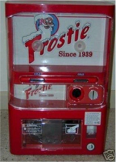 FROSTIE ROOT BEER PERSONAL MINI VENDING POP MACHINE (03/18/2007)