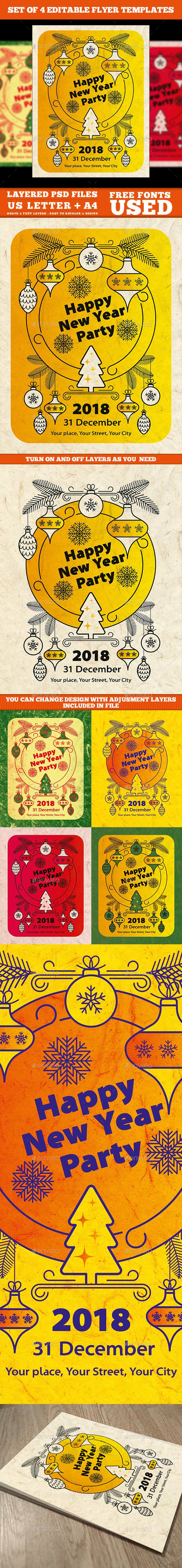 #New Year Flyer Template - #Events Flyers