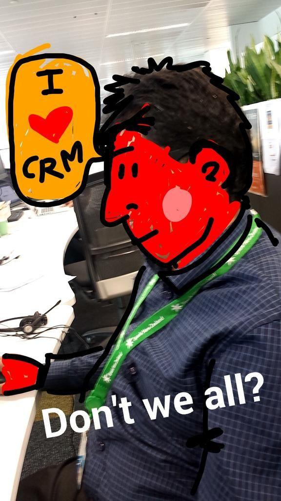 My job & my colleague.