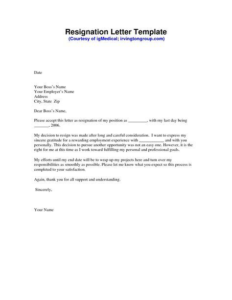 The 25+ best Resignation letter ideas on Pinterest Letter for - example of a letter of resignation