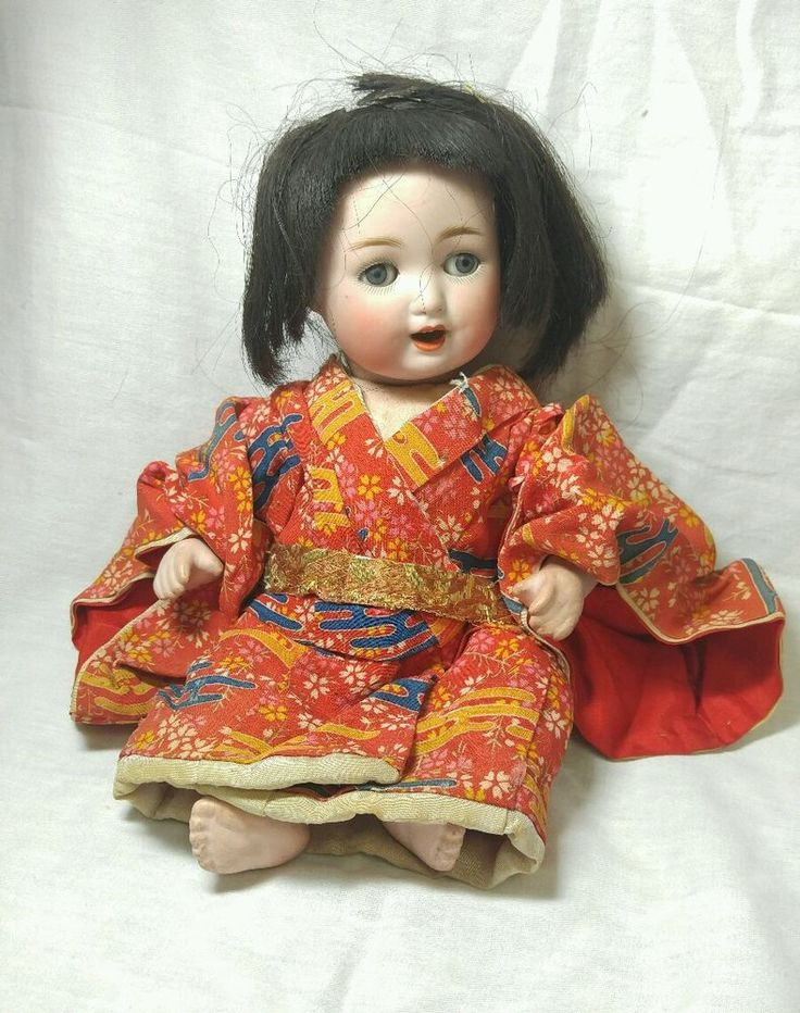 """10"""" Antique Doll  Body Germany 201 Asian / Oriental Clothes"""