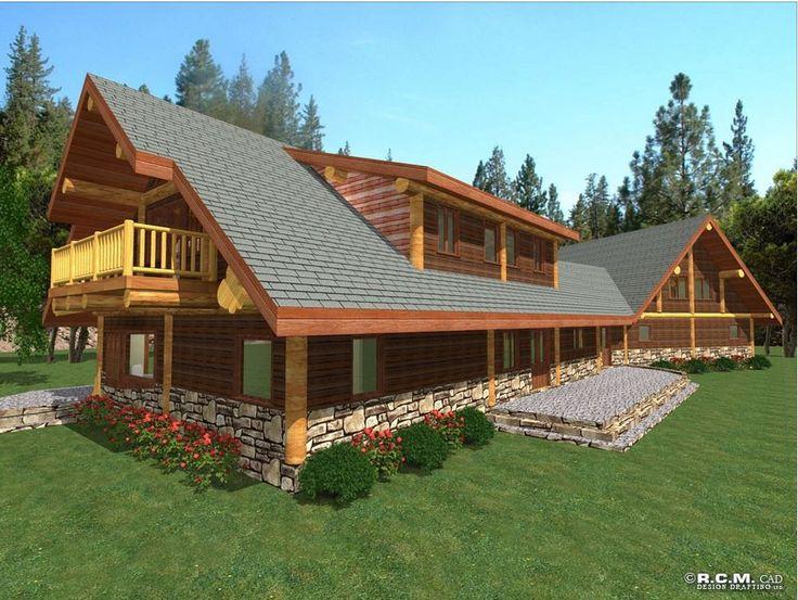 A spacious 4041 sq. ft. (375.4 sq m) design - Roberts A beautiful family home! #loghomedesign #floorplans #westernredcedar #postandbeam
