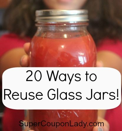 20 ways to reuse glass jars! #'s 4, 5 & 20 are tops on my to-do list! http://www.supercouponlady.com/2013/04/ways-to-reuse-glass-jars.html/