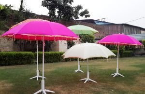 Colorful Garden Party Umbrellas