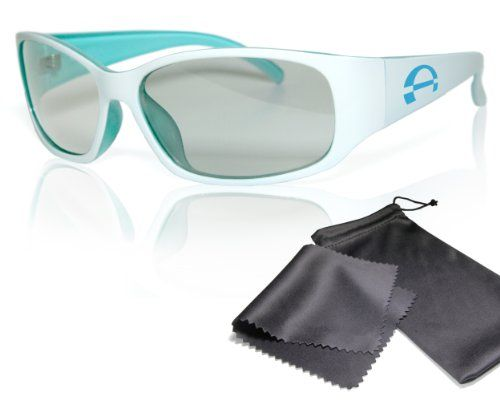 """Passive 3D Movie & TV Glasses - Unisex - white / turquoise - for RealD cinema use and passive 3D TVs such as LG """"Cinema 3D"""" and Philips """"Easy 3D""""- circularly polarized - with pouch has been published to http://www.discounted-tv-video-accessories.co.uk/passive-3d-movie-tv-glasses-unisex-white-turquoise-for-reald-cinema-use-and-passive-3d-tvs-such-as-lg-cinema-3d-and-philips-easy-3d-circularly-polarized-with-pouch/"""