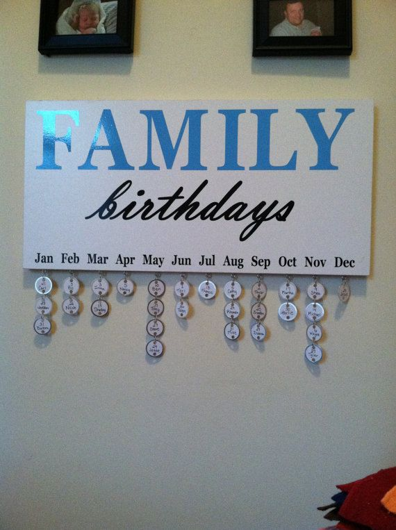 Cute Birthday Calendar Reminder by CraftsbyTori on Etsy, $40.00