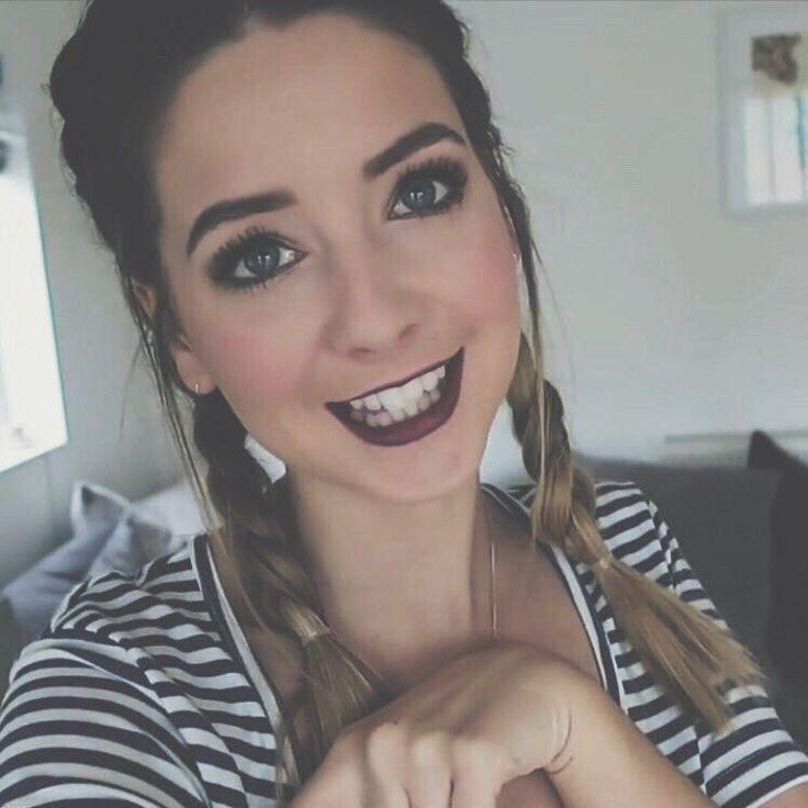 she looks so pretty with braids and dark lips  #zoella #zoesugg