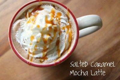 salted caramel mocha.Recipe, Homemade Salted Caramel Mocha, Fall Drinks, Salts Caramel, Homemade Salts, Sea Salts, Mocha Latte, Whipped Cream, Salted Caramels