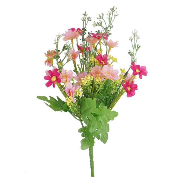 Bestselling 1 Bunch of Cineraria Artificial Flower Bouquet Home Office Decor