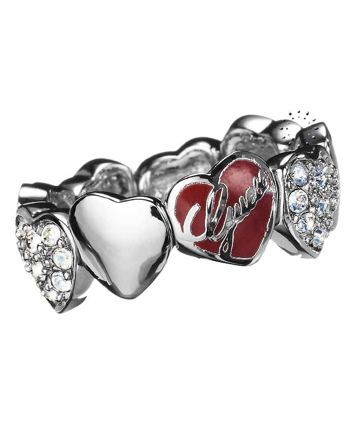 Δαχτυλίδι καρδιά με κρύσταλλα της Guess  54€  http://www.kosmima.gr/product_info.php?products_id=10436