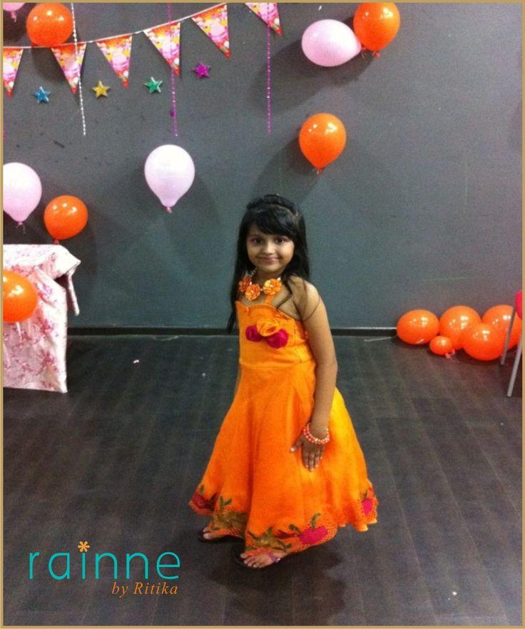 Rainne by Ritika #party #frocks #gowns #cutwork #appliques #organzas #formal #partywear #kidsfashion #pretty