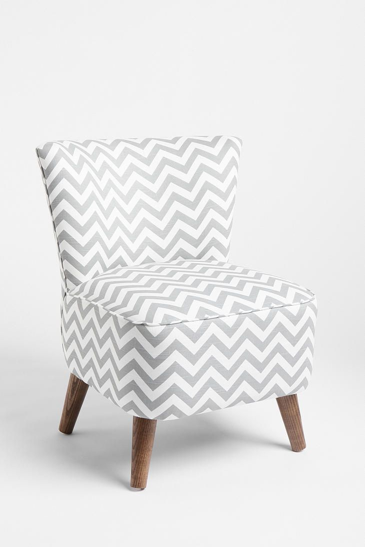 Chevron print Chair. What I would put in my living room if I could afford it.