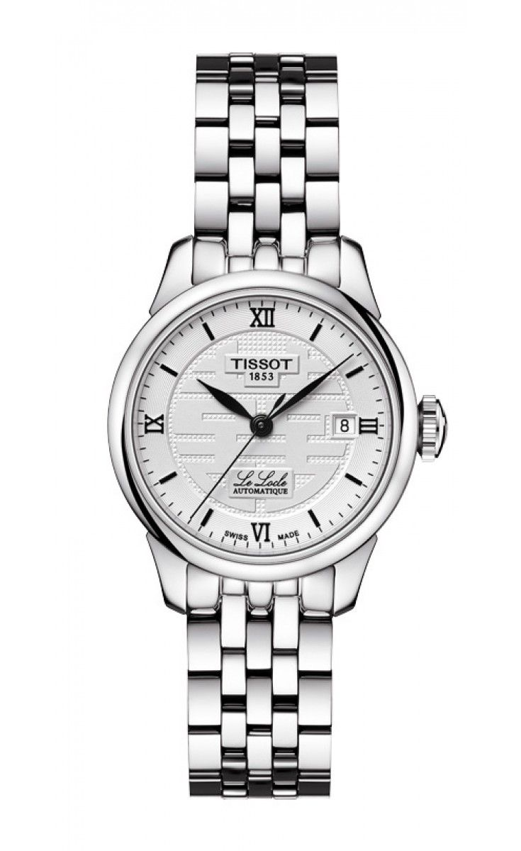 Tissot Le Locle Women's Automatic Double Happiness 2014 Silver Dial with Stainless Steel Bracelet Le Locle Automatic Women's