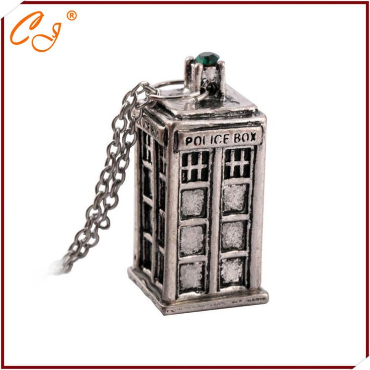 New Design Antique Silver / Gold DOCTOR WHO Tardis Telephone Booth Police Box Retro Pendant & Necklace Men Women Necklace