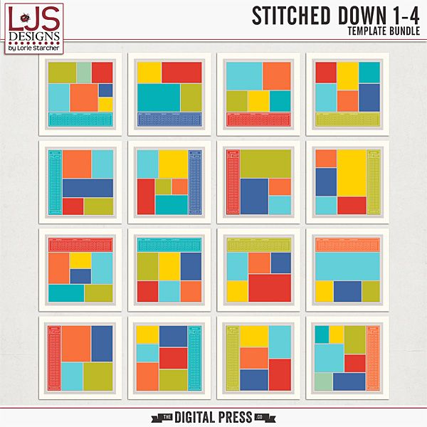 Stitched Down 1-4 | Bundle