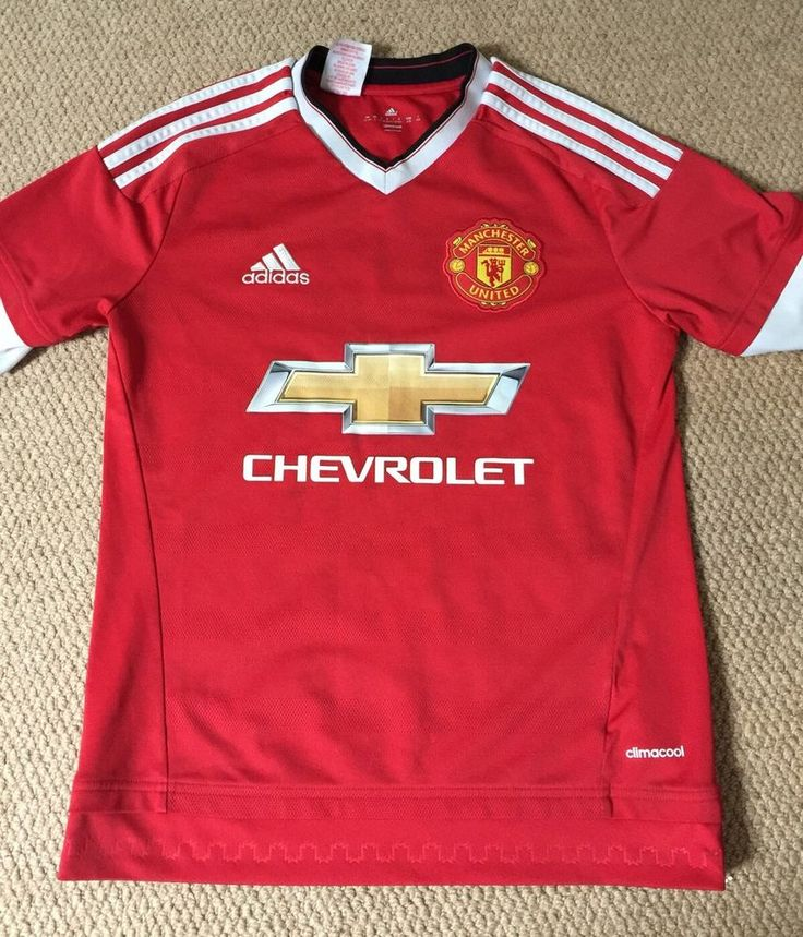 MANCHESTER UNITED Home Shirt 2015-2016 Adidas Size Boys 13-14 Years  | eBay