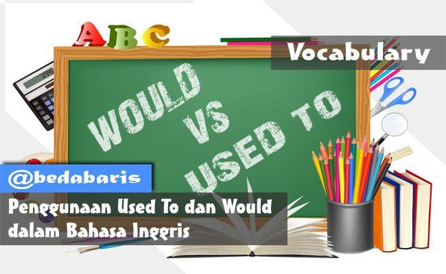 Perbedaan Antara Used To Dan Would Dalam Bahasa Inggris Terbaru