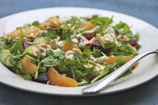The Café Sucré Farine: Roasted Beet, Orange & Arugula Salad w/ Honey-Orange Vinaigrette