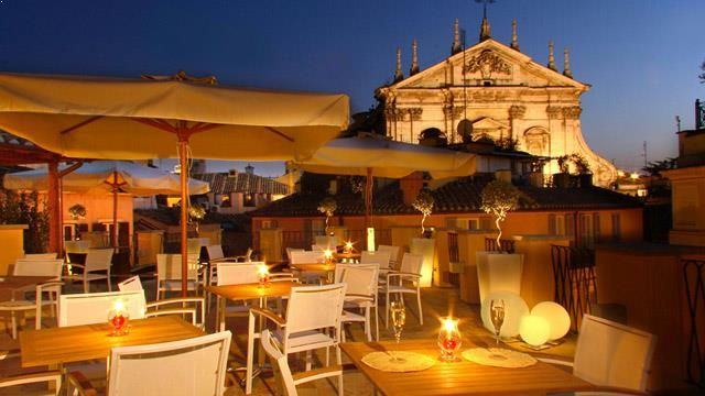 Rooftop Bar Rome La Terrazza Del Cesari In Rome Rooftop Bar Rome Best Rooftop Bars Rooftop Bar
