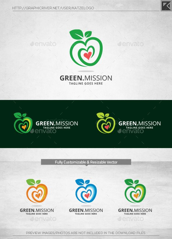 Green Mission Logo Template - Food Logo Templates